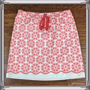 Sophie Max Lined Embroidered Skirt Size Medium